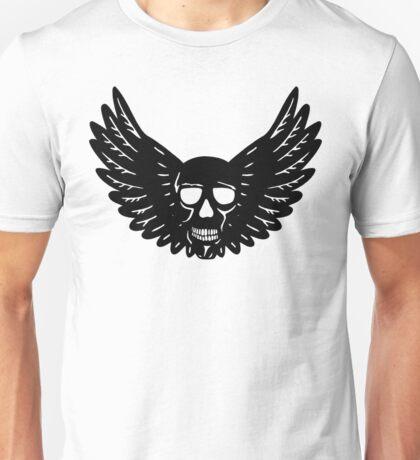 Skull Wings (Black) Unisex T-Shirt