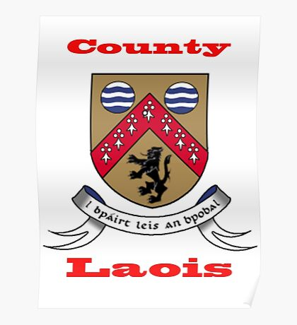 County Laois Coat of Arms Poster