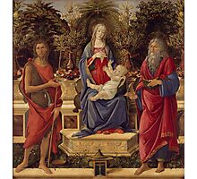 Botticelli  - Madonna with Saints 1485 Woman Portrait Fashion Photographic Print