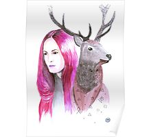 Illuminate me watercolor Poster