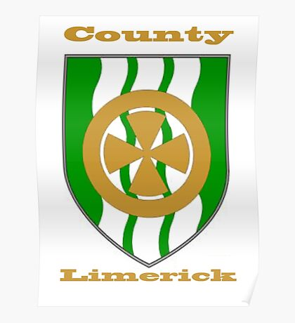 County Limerick Coat of Arms Poster