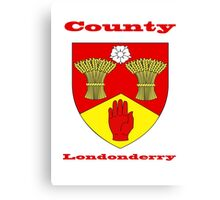 County Londonderry Coat of Arms Canvas Print