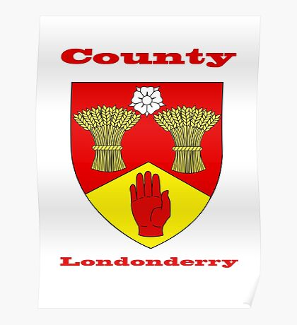 County Londonderry Coat of Arms Poster
