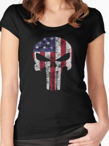I am only in a jeep USA American Punisher Women's Fitted Scoop T-Shirt