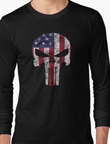 I am only in a jeep USA American Punisher Long Sleeve T-Shirt