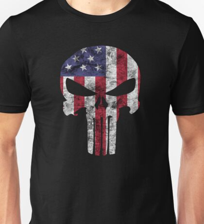 I am only in a jeep USA American Punisher Unisex T-Shirt