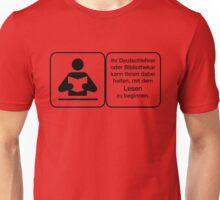 Vector Warnung Deutsch Deutschlehrer Unisex T-Shirt