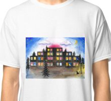 Building with Christmas Lights Classic T-Shirt