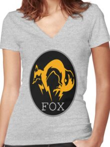 FOX MGS Women's Fitted V-Neck T-Shirt