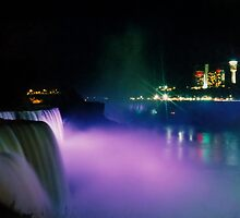 Niagara Falls at Night by DJ Florek