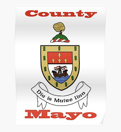 County Mayo Coat of Arms Poster