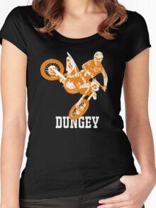 ryan dungey 5 orange Women's Fitted Scoop T-Shirt