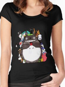 Mix Totoro Women's Fitted Scoop T-Shirt