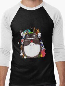 Mix Totoro Men's Baseball ¾ T-Shirt