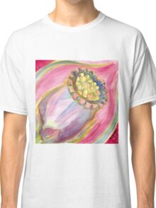 Red Campion Seed Pod - Abstract Watercolor Classic T-Shirt