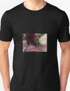 Red Purple White Roses Unisex T-Shirt