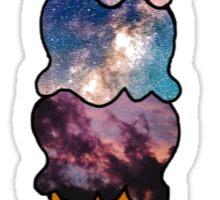 Galaxy/Universe Ice Cream Sticker