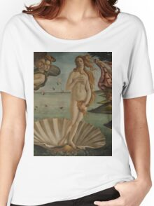 Botticelli  - The birth of Venus 1483 - 1485 Woman Portrait Fashion Women's Relaxed Fit T-Shirt