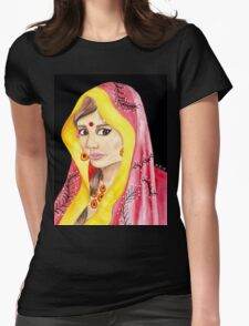 Bengali Princess Portrait Womens Fitted T-Shirt