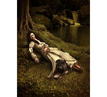 Watching over her sleep Photographic Print