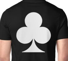 ACE, WHITE, Ace of Clubs, CLUB, Cards, Game, Suit, gangs, Gamble Unisex T-Shirt