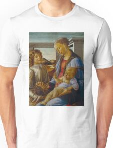 Botticelli  - Virgin and Child with an Angel 1470 - 1475 Woman Portrait  Unisex T-Shirt