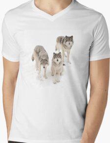 Timber Wolves Mens V-Neck T-Shirt