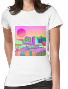bubblegum utopia  Womens Fitted T-Shirt