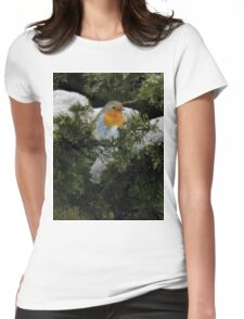 Robin in the winter Womens Fitted T-Shirt