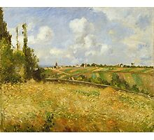 Camille Pissarro - A Rye Field, Hill of Gratte Coqs French Impressionism Landscape Photographic Print
