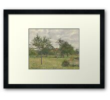 Camille Pissarro - Autumn, Morning, Cloudy, Eragny 1900 French Impressionism Landscape Framed Print