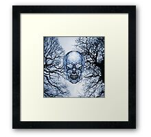Glass Skull and Veins Framed Print