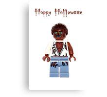 Happy Halloween Lego Warewolf Canvas Print