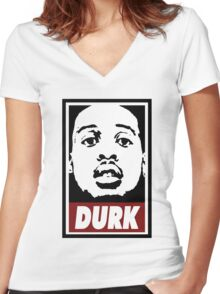 Lil Durk Women's Fitted V-Neck T-Shirt