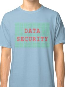 Data Security in Binary Green and Red Classic T-Shirt
