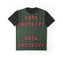 Data Security in Binary Green and Red Graphic T-Shirt