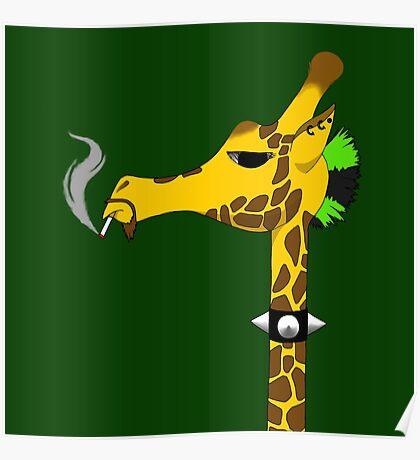 Punk Giraffe Poster