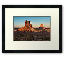 Shadows on the Mittens Framed Print
