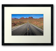 Road to the Valley Framed Print