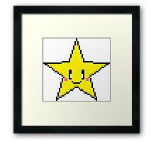 Pixel Art Star Framed Print