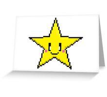 Pixel Art Star Greeting Card