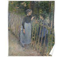 Camille Pissarro - Conversation  1881 French Impressionism Landscape Poster