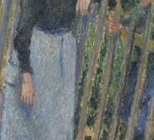Camille Pissarro - Conversation  1881 French Impressionism Landscape Sticker