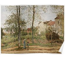 Camille Pissarro - Houses at Bougival Autumn 1870 French Impressionism Landscape Poster