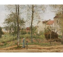 Camille Pissarro - Houses at Bougival Autumn 1870 French Impressionism Landscape Photographic Print