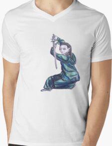 Martial Arts Lady 3 Mens V-Neck T-Shirt