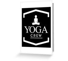 Yoga Crew Greeting Card