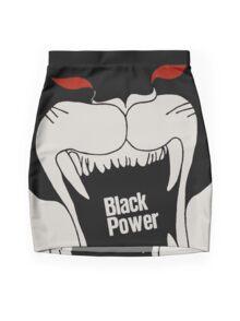 Black Power Mini Skirt