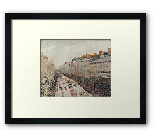 Camille Pissarro - Mardi Gras on the Boulevards 1897  French Impressionism Landscape Framed Print