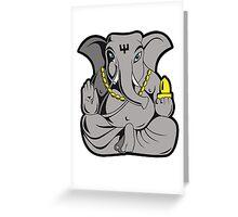 ganesha in colour Greeting Card